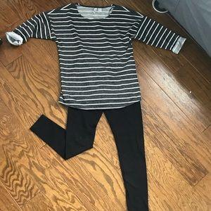 Oversized cozy striped sweater/sweater dress!